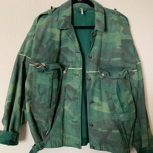 Free People slouchy army coat! Super comfy!